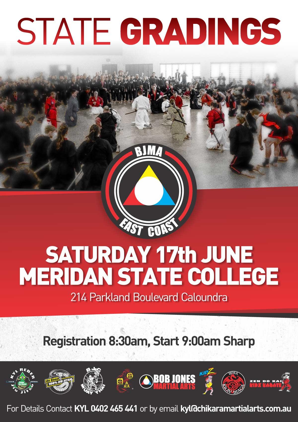 BJMA State Gradings - 17th June 2017